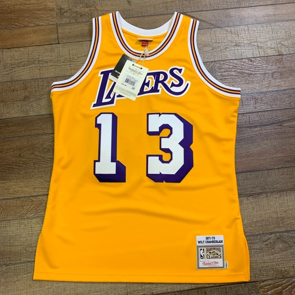 9d6ebd2ce NWT Wilt Chamberlain Lakers Authentic NBA Jersey